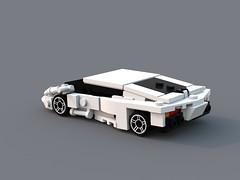 Aventador -fully buildable! (ron_dayes) Tags: city scale car town lego modular lamborghini minifigure aventador
