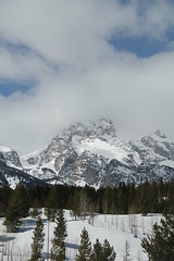 Grand Teton (Aggiewelshes) Tags: travel winter snow mountains landscape scenery april snowshoeing wyoming jacksonhole grandtetonnationalpark 2016 gtnp taggartlaketrail
