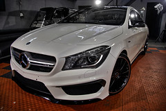 Mercedes-Benz CLA45 AMG C117 by DetailKing (AVuDoo) Tags: white mercedes mercedesbenz amg detailing c117 coatings vudoo ceramiccoating gyeon cla45 detailking durabead atodetailing