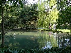 villa Elodia, Park 2a/2 (AnnAbulf) Tags: park parco weide villa teich spiegelung fvg riflesso laghetto salice weiher friuliveneziagiulia friauljulischvenetien trivignanoudinese