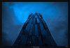 Blue Hour at the Dark Tower (Ilan Shacham) Tags: vienna wien windows abstract building tower architecture modern facade dark austria graphic geometry menacing fineart shapes fineartphotography perrault dominiqueperrault dctower