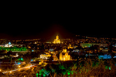 Tbilisi - Night view (malc1702) Tags: travel holiday architecture landscape cityscape darkness citylights slowshutter lighttrails nightscene colourful tbilisi holytrinitychurch narikalafortress nikond7100 nikkor18140mm