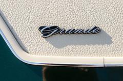Grande (GmanViz) Tags: color detail ford car logo nikon automobile top vinyl chrome badge type mustang script 1972 gmanviz grand d7000