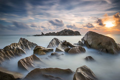 Sleeping Giant (Adly Wook) Tags: ocean longexposure red sea wallpaper sky cloud seascape motion art beach nature water rock stone composition sunrise canon landscape asian photography seaside outdoor awesome dramatic wave malaysia serene terengganu 6d