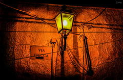 Last summer... (Emykla) Tags: street light summer italy orange muro lamp yellow wall night lights evening photo nikon flickr italia foto estate artistic via giallo sicily luci artistica sicilia arancione lampione sera 2015 terrasini d3100