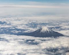 Mt Fuji (Astronomy*Domine) Tags: travel japan clouds tokyo fuji mt mount fujisan jal windowseat japanairlines