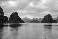 Ha Long Bay (Gigin - NoDigital) Tags: sea sky mountain nature water bay boat asia long ship objects vietnam transportation geography ha halongbay