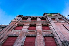 brew house (Eric B | RIP Prince) Tags: blue red sky urban abandoned clouds decay urbandecay bricks stlouis stl brewhouse urbanlandscape southstlouis zeiss35mmf28 sonya7rii