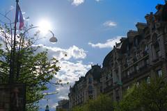 Paris (smooth.bokeh) Tags: street sky sun paris soleil faades roofs ciel rue share toits