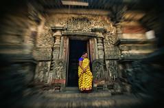 Elle.Oh. (Prabhu B Doss) Tags: india history architecture temple nikon women karnataka saree halebid belur travelphotography hoysala incredibleindia d80 haasan prabhubdoss