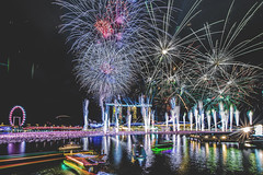Counting Down at Marina Bay, Singapore (Howtonwhyton) Tags: new night marina landscape happy bay flyer nikon singapore view weekend awesome wideangle firework newyear nightview nikkor sg merlion d800 marinabay astonish 2016 2015 marinabaysands 1424mm sg50 sg51 howtonwhyton