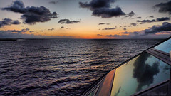 early morning at sea (LL) Tags: sea clouds dawn north nordsee schiff morgendmmerung