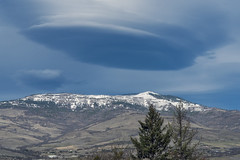 Alien Abduction (acase1968) Tags: winter cloud mountain snow oregon lens nikon cloudy over 85mm peak covered d750 grizzly nikkor ashland lenticular skywatch f18g
