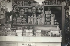 Happy shopkeepers (lovedaylemon) Tags: shop cheese vintage found 1960s primula walton grocer felixstowe shopkeeper