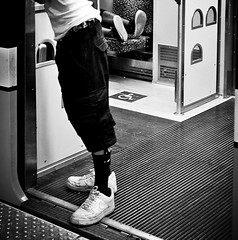 STRIDERS -  USA 2015 DALLAS WEST END STATION PLATFORM (Andrew Moura) Tags: street travel summer people blackandwhite rescue signs west art monochrome hat station bicycle lady dinner ink umbrella canon subway photography blackwhite dallas corn nikon texas you outdoor finger tiger hard platform gang photojournalism documentary makeup teens couples police trains andrew anger lovers eat crime mature american transit jail latin heat end violence blacks worker hispanic fans lesbians aggression emergency society prostitutes groupshot rapid dart department travelers gangs tatto hookers backpackers moura photoadd