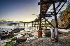 2/3 Catherine Hill Bay (Young Ko) Tags: seascape beach composition sunrise interesting rocks exposure wharf rockformation catherinehillbay