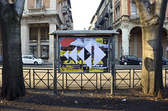 AK_Collage (| Ak |) Tags: street streetart abstract art geometric collage triangles paper triangle geometry paste ak billboard dcollage akdwg