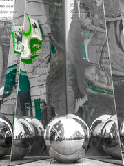 38/365 Silver Balls - 366 Project 2 - 2016 (dorsetpeach) Tags: england reflection art ball globe shiny devon chrome sphere exeter 365 scultpure 2016 366 aphotoadayforayear 366project second365project