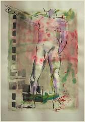 Stehender zeigend (Alemwa) Tags: man berlin kreuzberg nude sketching mann bg aktzeichnen berlinischegalerie a alemwa vesselaposner