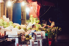 Fruit store (Ordinary_Folk) Tags: life china street film fruits night vintage lights living store shanghai like system everydaylife nightwalk 2013 olympusep2 underthestate capturedaily