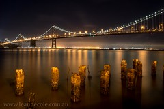 Iconic view of the Bay Bridge (Leanne Cole) Tags: sanfrancisco longexposure nightphotography bridge usa night long exposure photographer image photos images baybridge environment iconic fineartphotography longexposurephotography environmentalphotography diamondclassphotographer fineartphotographer environmentalphotographer leannecole leannecolephotography