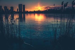 Sundown Over Grenadier Pond