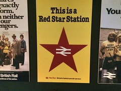 This is a Red Star station, British Rail (Dradny) Tags: poster design poetry parcels britishrail nrm redstar