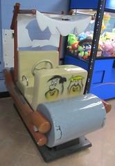 Kiddy Flintmobile 1 of 2 (TedParsnips) Tags: virginia walmart rockymount flintstones fredflintstone barneyrubble coinoperatedrides kiddyrides