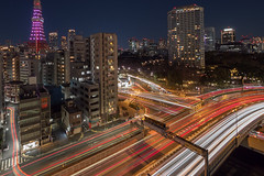 Akabanebashi (B Lucava) Tags: tokyo tokyotower lighttrail akabanebashi zd expressways