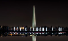 Fading Away (Geoff Livingston) Tags: reflection mall lights dc washington memorial national obelisk washingtonmonument
