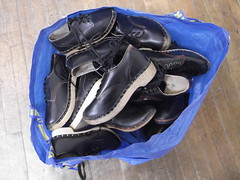 2nd February 2016 (themostinept) Tags: london bag shoes floor camden clogs nw1 cecilsharphouse danceclogs dancingclogs