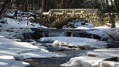 Walking Bridge (smurfer56) Tags: bridge winter nature frozen nikon stream maine trails coolpix hallowell s8200
