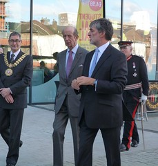 The Worshipful The Mayor of Southend, Councillor Andrew Moring, HRH The Duke of Kent, Chief Executive of the Council, Rob Tinlin, Lord Lieutenant of Essex, Lord Petre (SouthendBC) Tags: kent duke southend theforumsouthendonsea