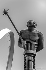 'River God' by Andr Wallace, Quayside, Newcastle upon Tyne (Jasper180969) Tags: bw statue newcastle pentax tamron k5 rivergod 18250 pentaxart