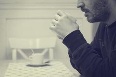 Desayuno (Graella) Tags: portrait people food man gente retrato comida bn cocina desayuno hombre almorzar kitchenvintage