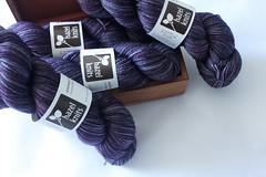 Sweater Quantity (jchants) Tags: wool purple yarn fingeringweight hazelknitsartisansock merinonylonblend alexandritecolorway