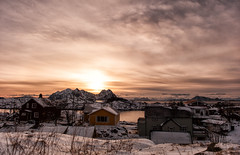 Everlasting Golden Hour (Kristin Repsher) Tags: winter snow norway norge nikon fjord lofoten goldenhour nordnorge arcticcircle svolvær lofotenislands nordland svinøya northernnorway d700