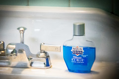 (040/366) Retro Splash (CarusoPhoto) Tags: project john lens bathroom photo holga bottle aqua day sink pentax retro shaving photoaday faucet shave 365 everyday splash caruso product mundane spigot banal aftershave ordinary ks2 lowfi velva 366 project365 hlp project366 carusophoto