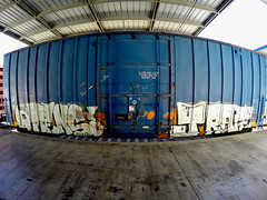 (o texano) Tags: bench graffiti texas houston trains freights omens benching jfrafe