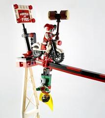 LEGO DC Superheroes 76035 Jokerland 23 (noriart) Tags: boy adam robin penguin robot tim clown review ivy super harley batman quinn beast joker jumper starfire heroes poison burton the grabowski batmobil misterzumbi recenzja 8studs