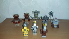 Fallout Robots, back views. (Brickule) Tags: robot lego scifi fallout apoc robco