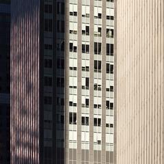 Midtown Skyscrapers (josullivan.59) Tags: nyc light shadow wallpaper urban panorama usa newyork abstract black detail green texture geometric architecture sunrise square day skyscrapers unitedstates january clear midtown minimalism lightanddark artisitic 2016 sunriselight 3exp canon6d tamron150600