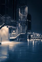 Rainy Predawn Hours (justenoughfocus) Tags: ca nightphotography urban canada monochrome rain vancouver buildings photography lights cityscape britishcolumbia streetphotography sidewalk urbanexploration sciencecentre urbex architecturephotography sonyalpha sonya7rii