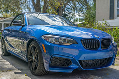 2016 BMW M235i44 (pdebree) Tags: auto blue light car automobile fast front grill bmw headlight bluecar bimmer mpower m235i reevesbmw reevestampa