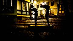 Posing (canaanite98) Tags: street building art beauty yellow architecture buildings germany deutschland lights hessen frankfurt posing an stadt der lahn limburg deutsche germans hesse alte