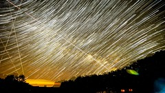 SS comet trails. (Ryan Hallock) Tags: longexposure sky dark stars buffalo sony treeline comet a7 wny 14mm rokinon milkywaygalaxy astrometrydotnet:status=failed starstax astrometrydotnet:id=nova1453338 cometblend