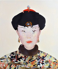Mimmo Frassineti  Concubine Huixian, 2012. Painting: Ink, acrylic and paper on canvas, 39.4 x 33.5 in. SurrealChinese (art of and about China)Contemporary (ArtAppreciated) Tags: china art girl female portraits painting costume mixed women media contemporary surrealism fineart chinese surreal blogs portraiture figurative mimmo concubine artblogs tumblr 2010s artoftheday artofdarkness frassineti date2012 artappreciated artofdarknessco artofdarknessblog