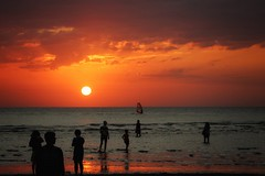 Sunset Gathering (leewoods106) Tags: ocean trip travel sunset red sea vacation people orange cloud sun holiday reflection beach wet water silhouette clouds canon reflections person photography photo sand holidays asia southeastasia photographer pacific cloudy photos silhouettes surfing pacificocean journey malaysia borneo sail kotakinabalu persons traveling sabah beautifulview beautifulmoments traveler tanjungaru beautifulplaces beautifulsunset beautifulisland offthebeatentrack shangrilatanjungaru beautifulseascapes mustseeplaces incredibleplaces stunningisland stunningplaces canoneosm