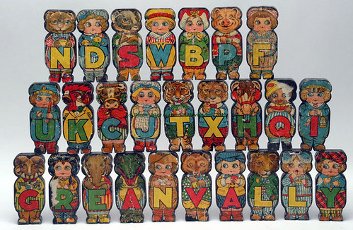 1916 German lithograph figural blocks - $253.00 (Sold July 10, 2015)