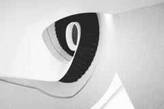 9 (Panda1339) Tags: uk light bw abstract london monochrome architecture nikon gallery 9 staircase newport minimalism